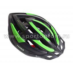 Вело Шлем взрослый, 19 вент. отверстий VSH 23 Черно-зеленый