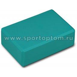 Блок для йоги INDIGO  97416 IR  22,8 х15,2 х7,6 см Бирюзовый