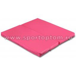 Мат гимнастический складной SM-108  Розовый (1)