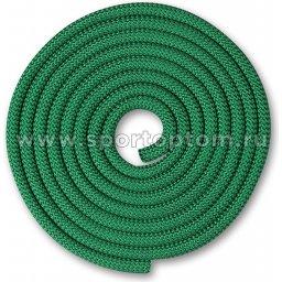 Скакалка для художественной гимнастики Утяжеленная 150 г INDIGO SM-121 2,5 м Зеленый
