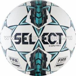 Мяч футбольный №5 SELECT CONTRA 2017 тренировочный (термопластичн.PU) 812317 Бело-бирюзово-серый