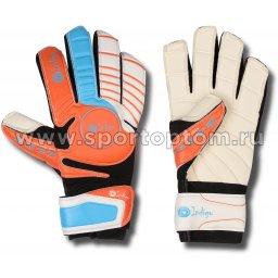 Перчатки вратарские INDIGO  1420 6 Оранжево-голубой