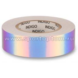 Обмотка для обруча с подкладкой INDIGO зеркальная RAINBOW Бело-фиолетовый (2)
