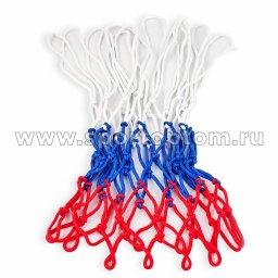 Сетка баскетбольная цветная (пара) Бело-сине-красный