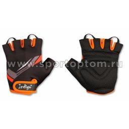 Перчатки вело мужские INDIGO  SB-01-8206 Черно-оранжевый