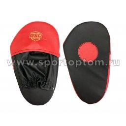 Лапа боксерская прямая малая RSC COMBAT и/к(пара) RSC010 28*17*4 см Черно-красный