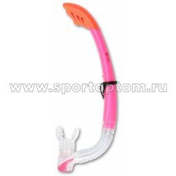Трубка  для плавания  INDIGO взрослая с  маскодержателем IN062 Розовый