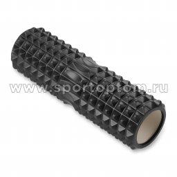 Ролик массажный для йоги INDIGO PVC IN268 черный (1)