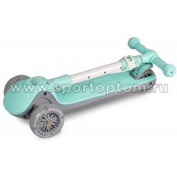 IN244 Самокат детский INDIGO FAST трехколесный до 50 кг Бирюзовый (3)