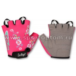 Перчатки вело детские INDIGO Цветы SB-01-8821 Розовый
