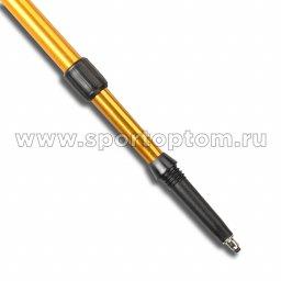 Палки для скандинавской  ходьбы телескопические INDIGO SL-1-3 Золотистый пластмассовые ручки(3)