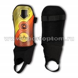 Щитки футбольные INDIGO с защитой щиколотки, ламинированным покрытием  1250 L Оранжево-желтый