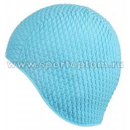 Шапочка для плавания INDIGO Bubble женская IN079 Голубой