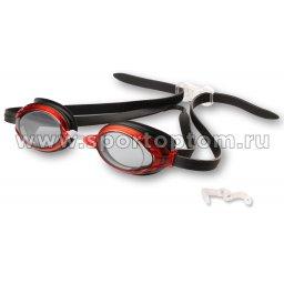 Очки для плавания INDIGO SARGO сменная переносица GT3-3 Черно-красный